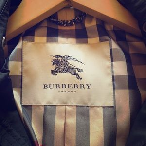 Burberry black rain jacket.